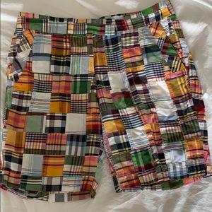 J. Crew madras shorts